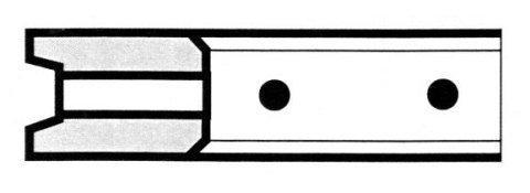 R8 scanalato con fori - Produzione di fasce elastiche raschiaolio a Milano