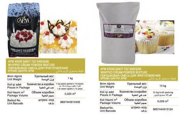 krem şanti - pastacılık için krem şanti tozu