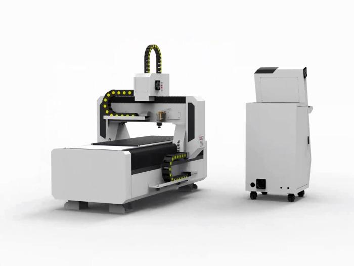 CNC Router T-Rex N-0615 Stepper Milling machine Wood Metal - control panel with integrated CNC controller, vacuum table, CAM software