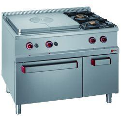 GAS COOKING RANGE SOLID TOP - GAMME OPTIMA 700