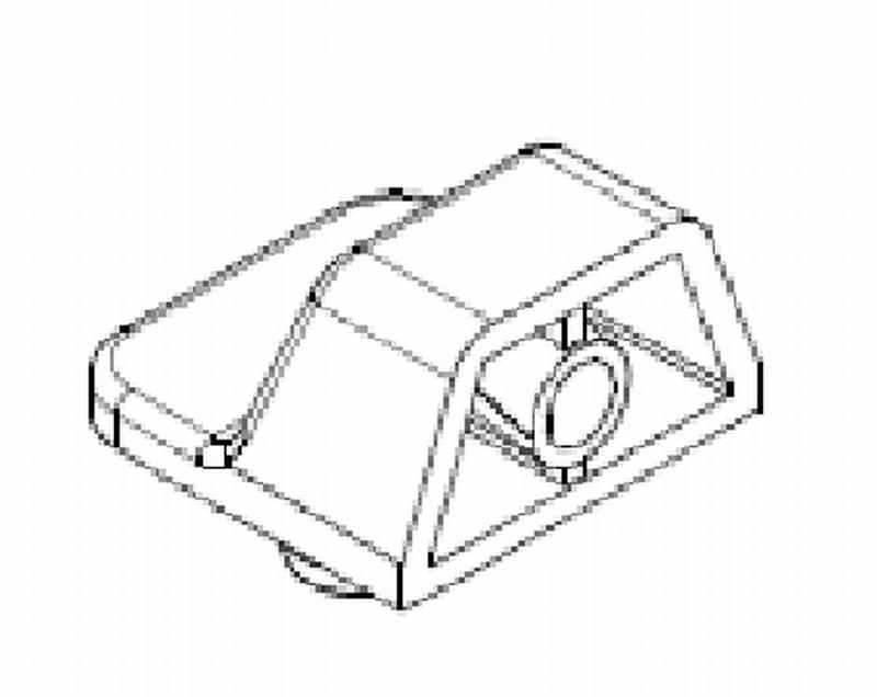 Eckverbinder KS weiß, mit Zapfen Ø 8mm - Eckverbindungswinkel
