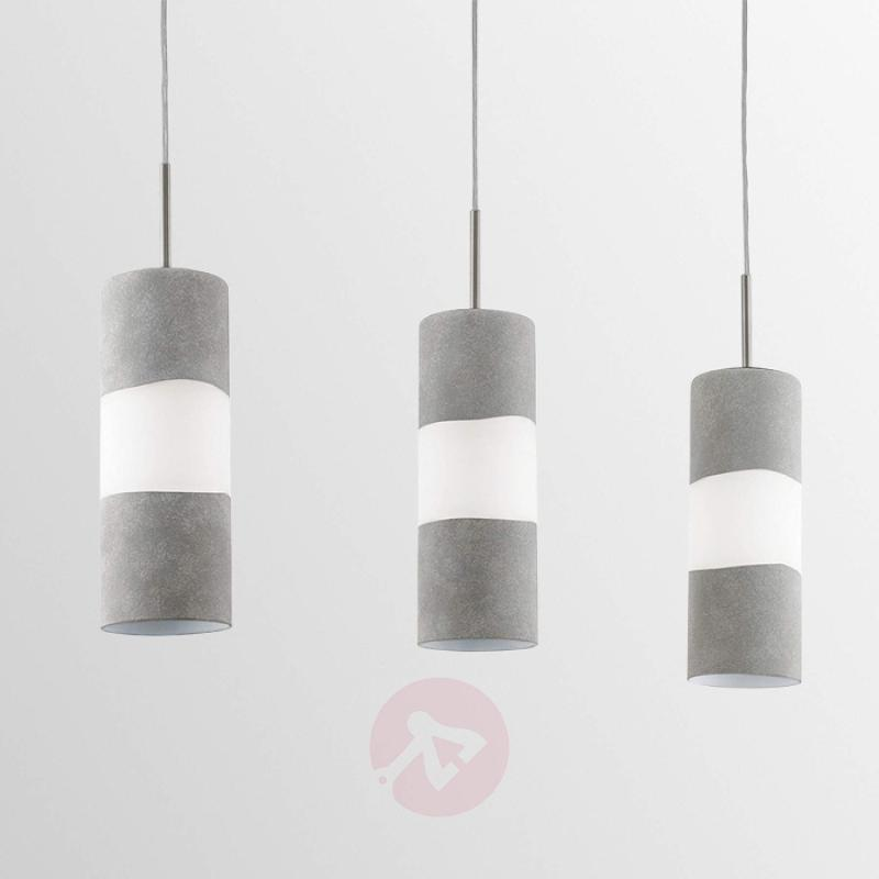 Lagonia - 3-bulb pendant light with glass shades - indoor-lighting