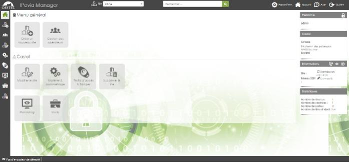 IPEVIA Manager - contrôle d'accès petit moyen tertiaire - Logiciel de contrôle d'accès