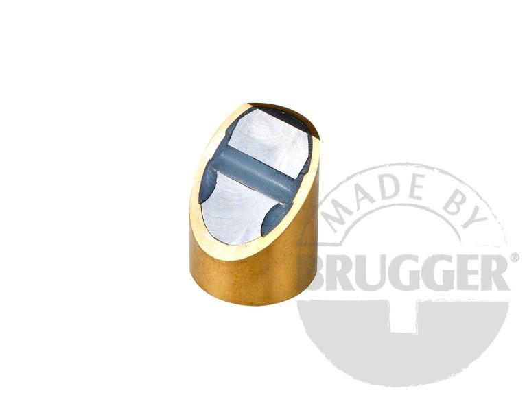Bar magnet NdFeB, brass body with fitting tolerance h6 - null