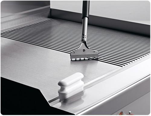 Grill plates - Gas griddle plate - smooth - Grooved (8 kW)