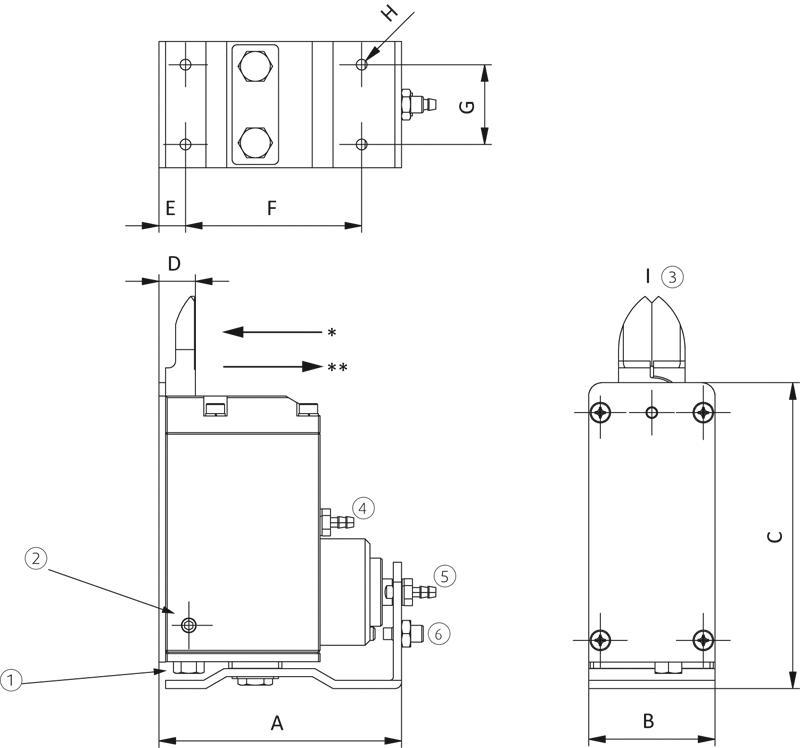 Schneidzangen für Kunststoff - vertikal, mit Hub - null