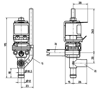 Electrovanne de chauffe-eau, DN 8 - 46.008.101