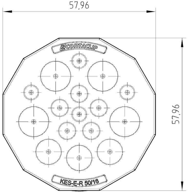 KES-E-R 50/16 A GR   Kabeleinführung - null