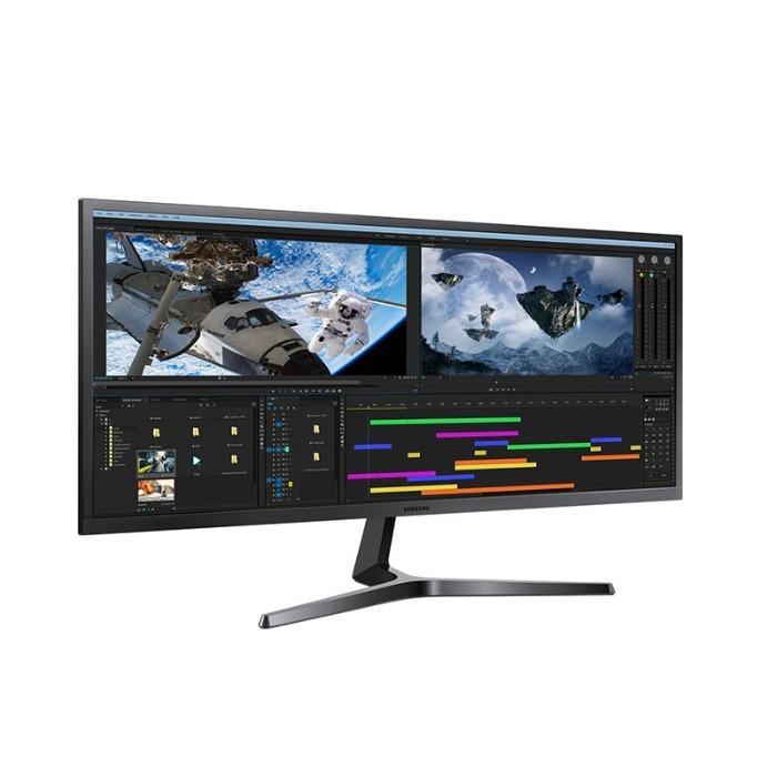 Monitor da Samsung - Samsung Monitor LS34J550WQUXEN grigio scuro