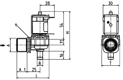 Direct acting solenoid valve, DN 10 media separated - 01.010.114