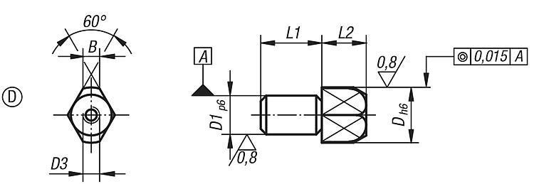 Goupille de positionnement extractible formes B et D - Éléments de positionnement