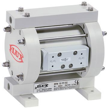 FLUX Druckluft-Membranpumpen RFM/RFML - In Massivbauweise und verschiedenen Ausführungen von 30 - 375 l/min