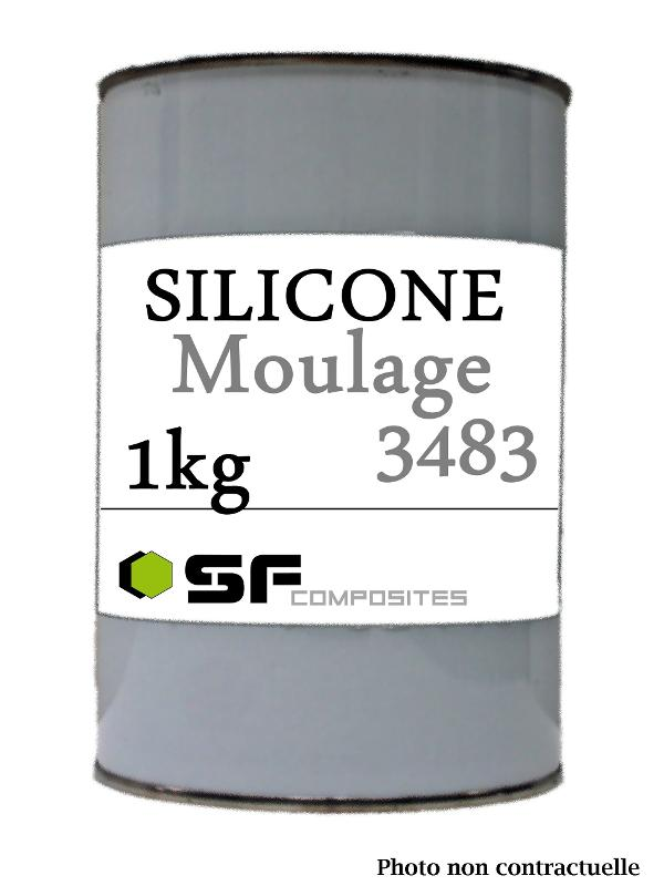 SILICONE 3483 1KG .BASE KG - Produits pour le moulage Silicones