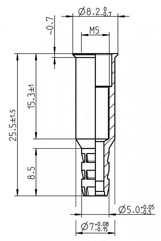 Tuercas remachables con conexión de aire - Tuercas remachables con conexión de aire
