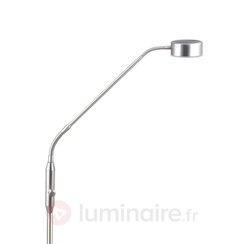 Lampadaire LED Lupo à finition nickel - Lampadaires LED