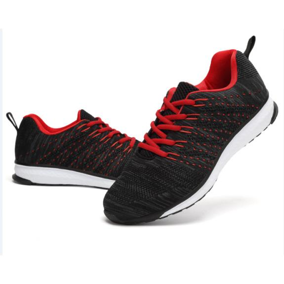 Fly knitting shoes active breath running shoes race men - fly knitting upper pu sole in size 40-45