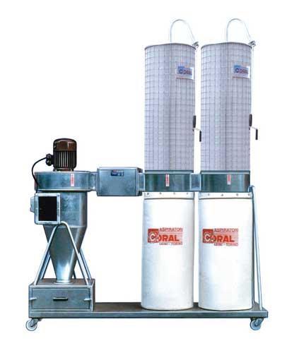 Cyclone séparateur avec filtres et ventilateur - CYCLONFILTER Poussières
