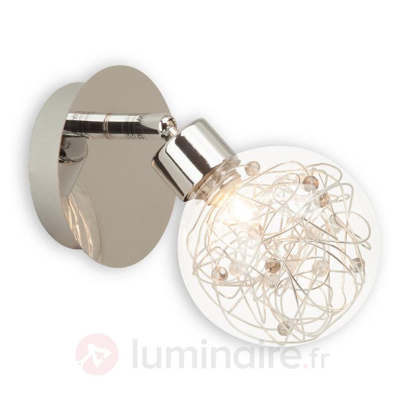 Applique Joya avec éclairage d'ambiance - Appliques chromées/nickel/inox
