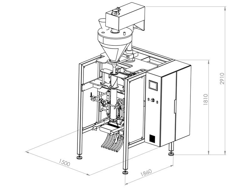 BM-A SERIES Packaging Machine with Auger Filler -