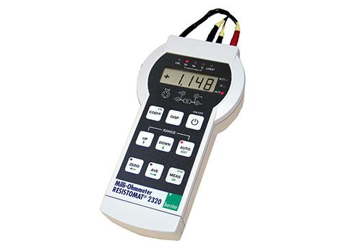 Battery-operated milliohmmeter - RESISTOMAT® 2320 - Digital ohmmeter, portable,light and handy device,universally applicable,4-wire