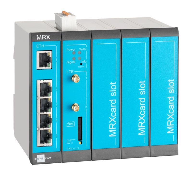 MRX5 LTE modularer 4G/LTE-Router, Switch, dig.EIN, LXC