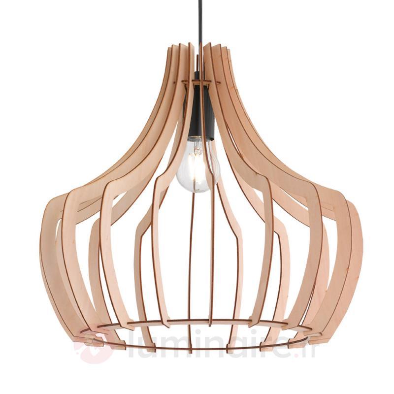 Suspension en bois Wood avec design à lamelles - Suspensions en bois