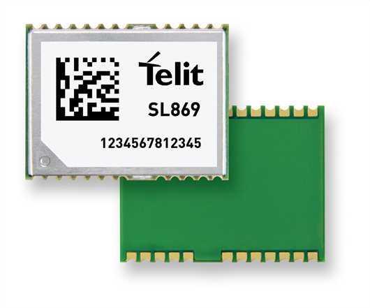 Telit Jupiter SL869-ADR GPS,Glonass Module - 3.3V nominal/GPS/GLONASS/UART/I2C
