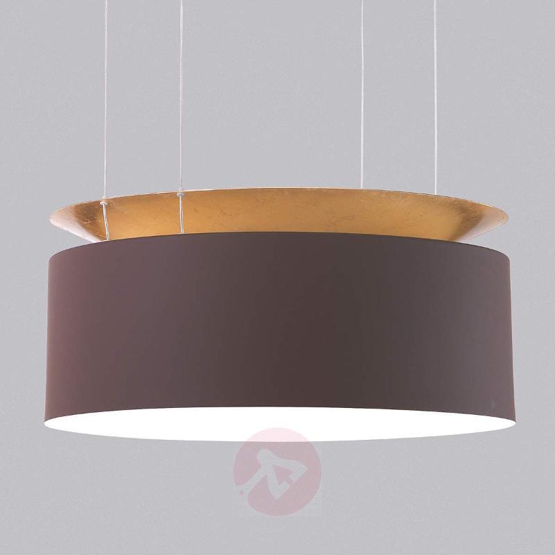 Gold-brown LED hanging light Eclisse - Pendant Lighting
