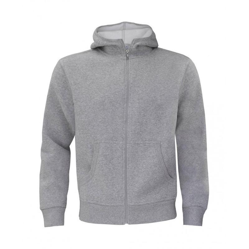 Sweat shirt à fermeture homme - Avec capuche