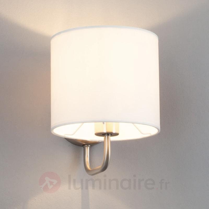 Applique en tissu blanc Fenria avec LED E14 - Appliques en tissu