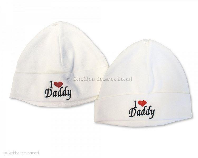 Baby Cotton Hat - I Love Daddy - Hats
