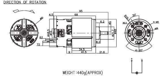 12-24V 200-500W 20000RPM 48*68 Nichibo RS-800 DC Motor - drill&screwdriver