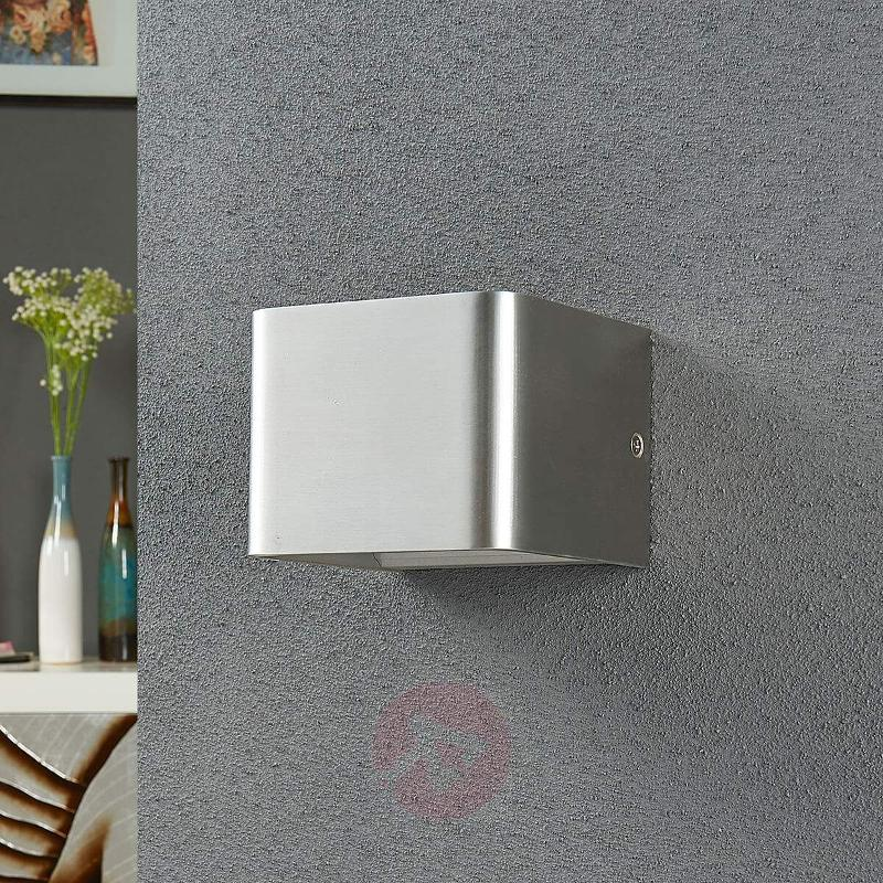 Nickel-coloured LED wall lamp Lonisa - Wall Lights