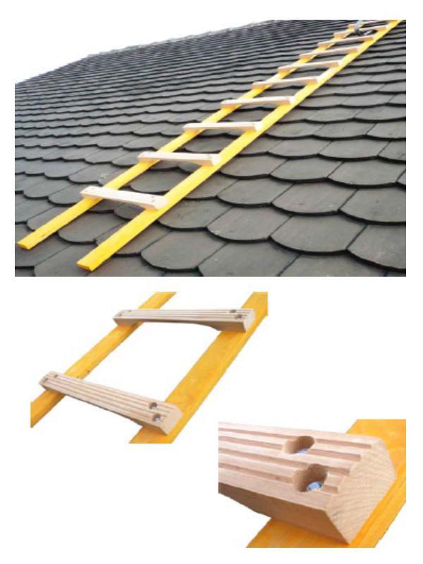Echelles de toiture - Echelle de toit bois