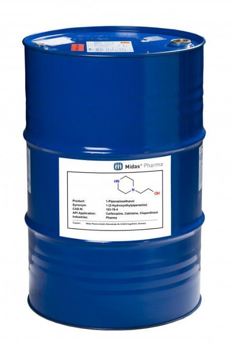 1-Piperazinoethanol - 103-76-4; Building Block;  Acetophenazin, Carfenazin, Cetirizin, Clopenthixol