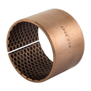 Wrapped bronze sliding bearing - BRO-LUB®  - with filled lubrication pockets