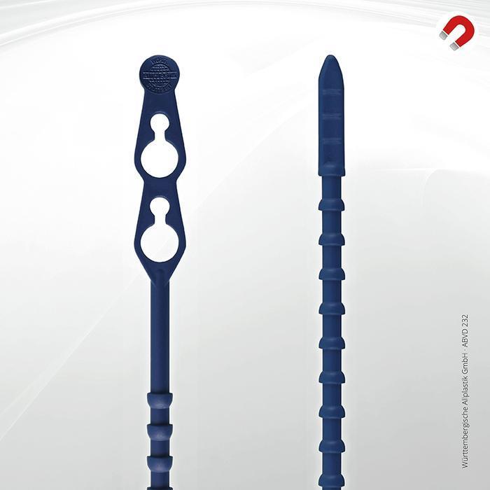 Metal detectable cable ties Allplastik-Blitzbinder® - ABVD 232 (blue)