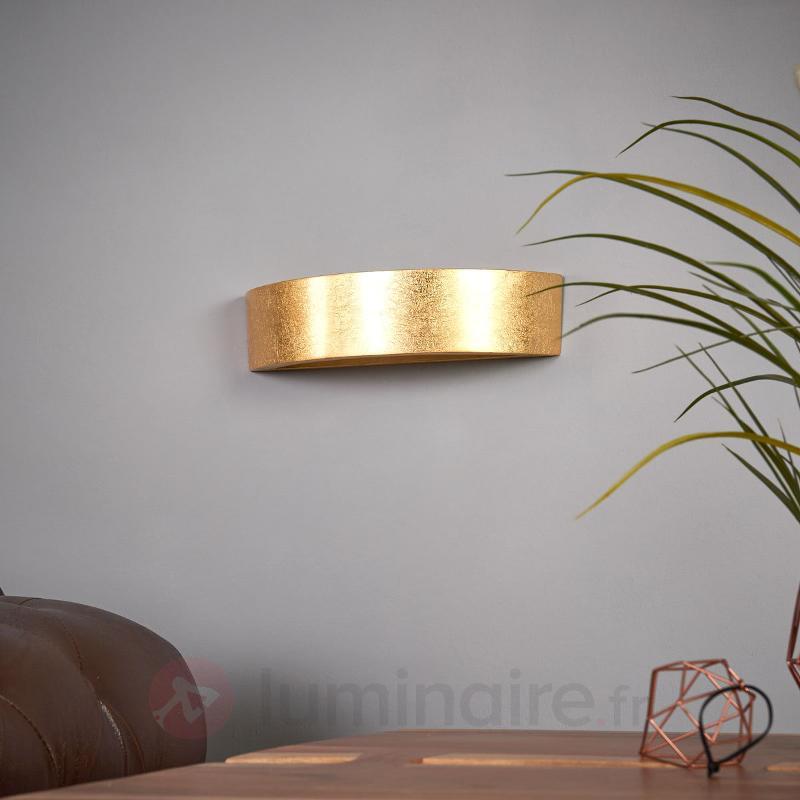 Jasin - applique à surface dorée - Appliques en laiton/dorées