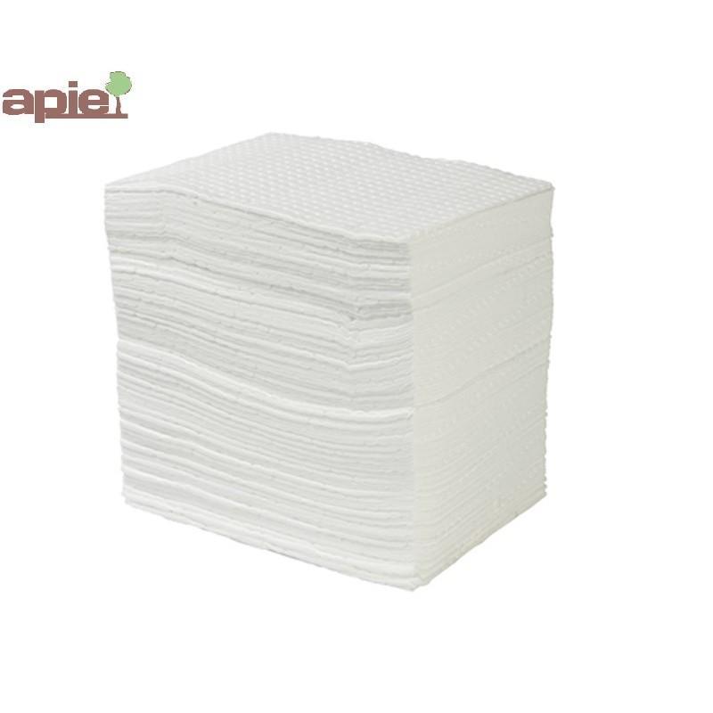 100 feuilles absorbantes hydrocarbures - qualité supérieure - Référence : FEUIL100/HYDRO/S