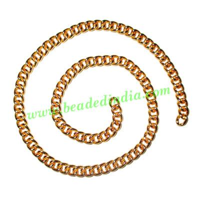 Gold Plated Metal Chain, size: 1x5mm, approx 19.2 meters in  - Gold Plated Metal Chain, size: 1x5mm, approx 19.2 meters in a Kg.