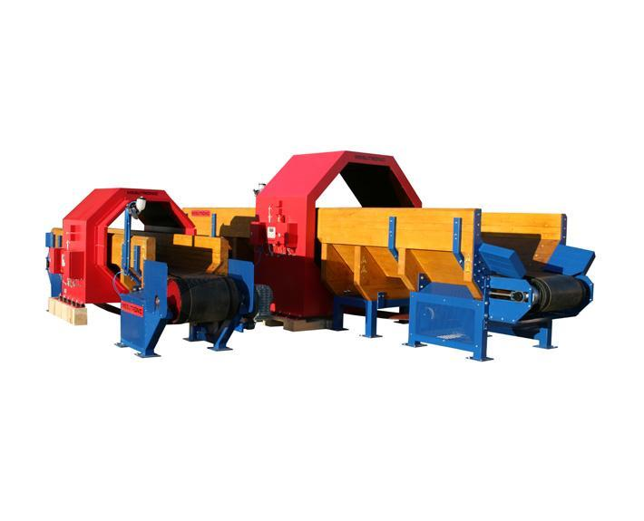 Heavy duty conveyor for the transport of logs in sawmills. - TRANSTRON HL