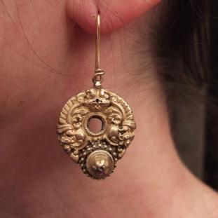 Boucles d'oreilles - Or20ct, Inde