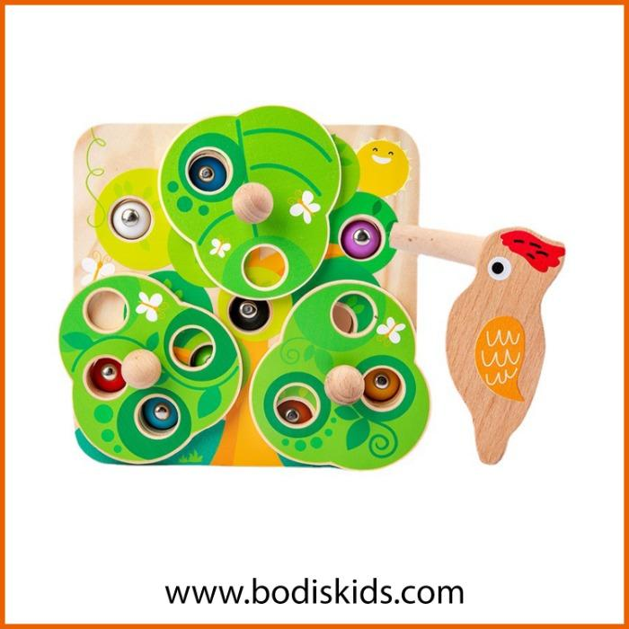 toy wooden woodpecker catch worm game  -  Educational Toys