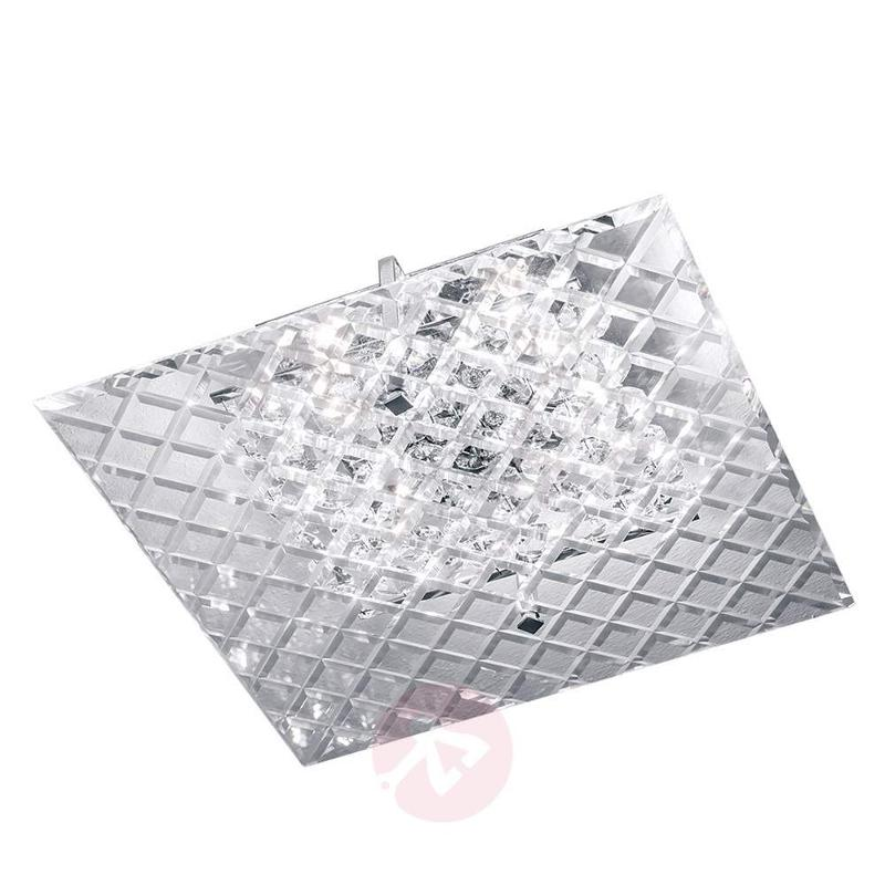 Merites Crystal Ceiling Light Square - Ceiling Lights