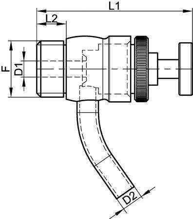 65518 ROBINET PRISE D'ÉCHANTILLON À MEMBRANE SILICONE Inox 316L - Robinets prise d'échantillon à membrane