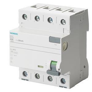Siemens Schutzschalter 5SV3344-6 - FI-Schutzschalter Typ A 40A 3+N-pol. 30mA