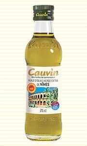 HUILE D'OLIVE VIERGE EXTRA AOP NIMES CAUVIN 25CL - Produits oléicoles
