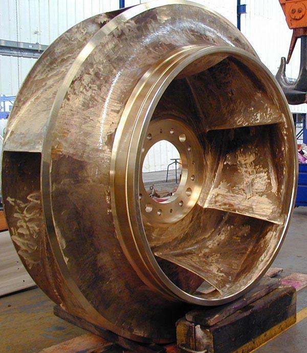 Pump impeller Ø 2300 - NAB Alloys - Sand Casting