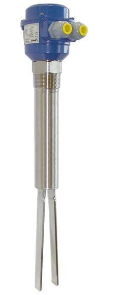 Sensor com garfo vibratório Vibranivo® VN 2000/6000 - Detector de Cheio, Demanda ou Vazio - para medição pontual de nível
