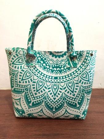 Cotton Women Satchel Purse Large Bag